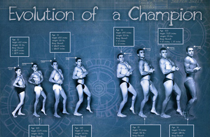 Evolution of a Champion